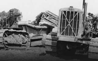 Трактор катерпиллер гусеничный