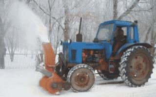 Самодельный роторный снегоуборщик на трактор