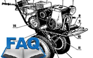 Неисправности двигателя мотоблока