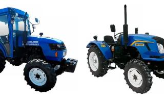 Донг фенг модельный ряд тракторов