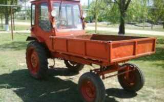 Трактор с кузовом впереди т-16
